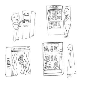 Several styles of kiosk.